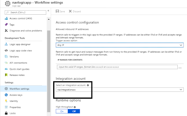 Mapping Integration Account to Azure Logic Apps
