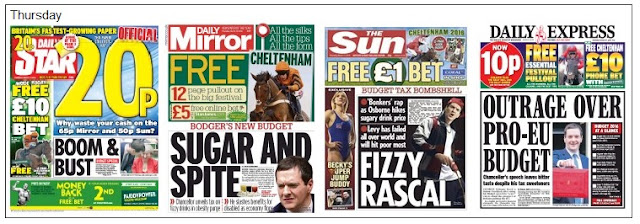 Cheltenham front pages