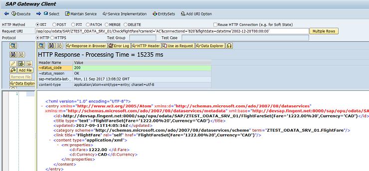 Function Import in SAP Gateway OData service - SAP ABAP
