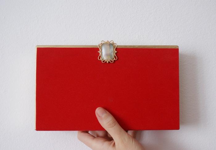 velvet clutch diy videotape francinesplaceblog
