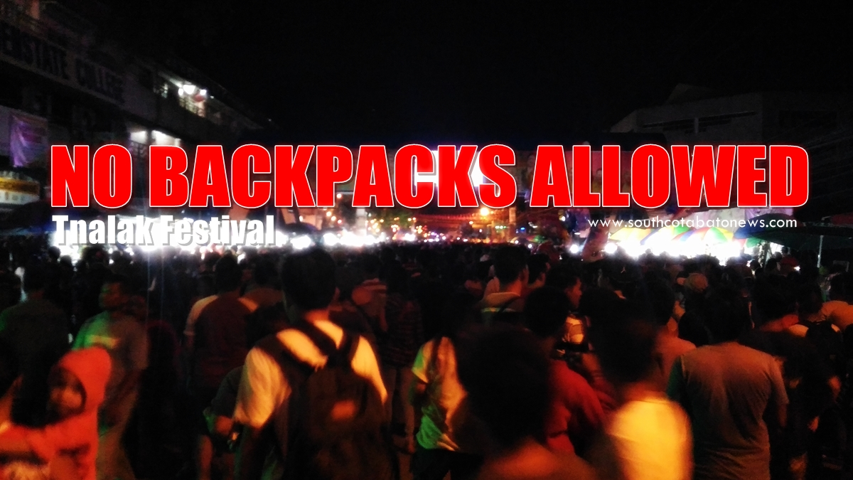 """No Backpack Policy"" in effect this Tnalak Festival"