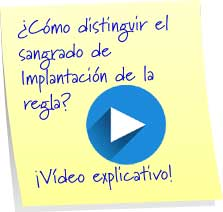 distinguir sangrado implantacion