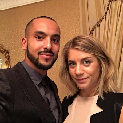 Photo: Arsenal Forward and Wife Ahead of Everton Clash