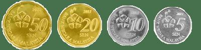 Wang Kertas Dan Duit Syiling Malaysia Siri Baharu - 50sen, 20sen, 10sen dan  5sen