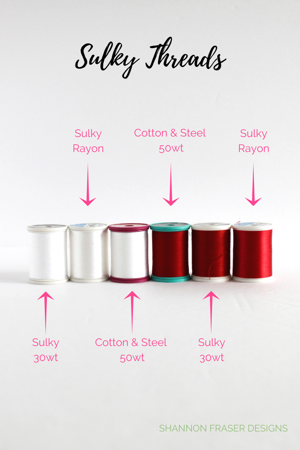 Cotton & Steel Threads | Sulky Threads | Shannon Fraser Designs #quiltingthread #thread #quilting