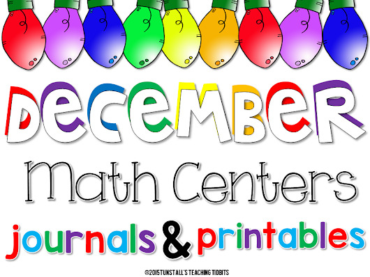 December Math Games, Journals, and Printables