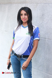 Actress Sanjana Galrani Pictures in Jeans at CBL Telugu Thunders Team Jersey Launch  0006.jpg