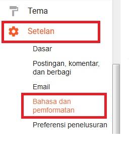 Sobat klik Setelan lalu klik Bahasa dan Pemformatan.