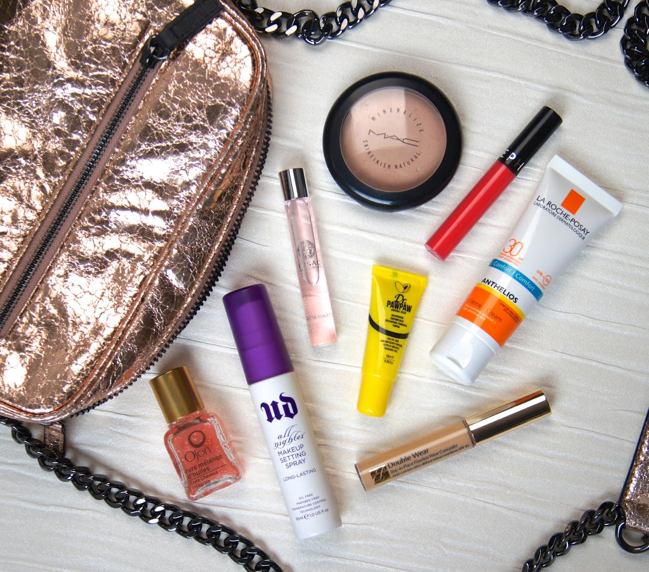 summer beauty what's in my handbag essentials
