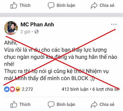Gửi anh MC Phan Anh!