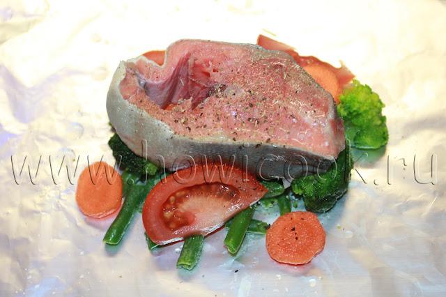 рецепт горбуши с овощами в фольге с пошаговыми фото