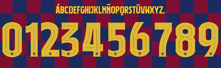 Official Debut Incoming Full Fc Barcelona 19 20 Font Revealed Champions League Only Footy Headlines