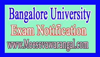 Bangalore University MBA Vacant Seats Evening Course Admissions 2016-17 Notification