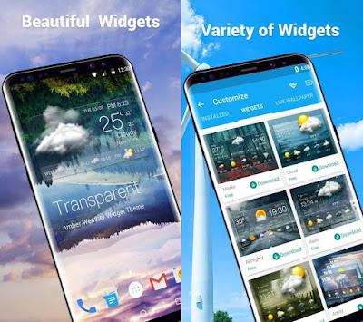 تطبيق معرفة أحوال الطقس للأندرويد Amber Weather Premium Apk 3.8.1