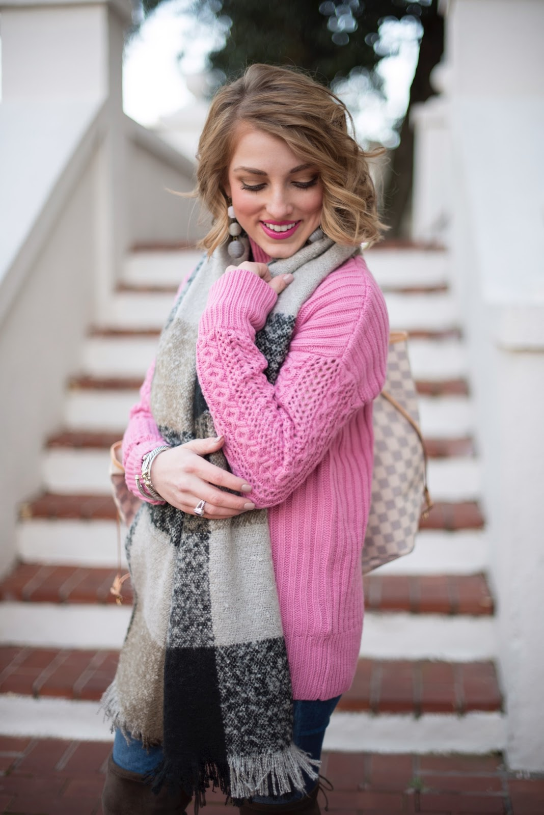 Pink Sweater - Something Delightful Blog