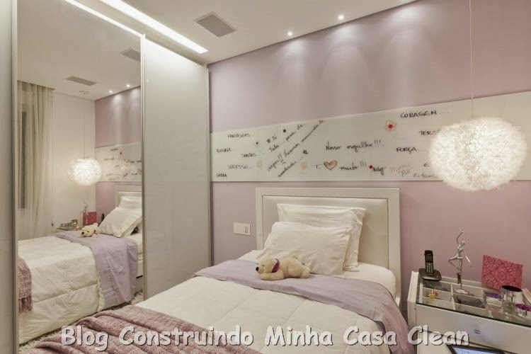 Construindo minha casa clean 15 quartos dos sonhos de for Paredes sensoriales