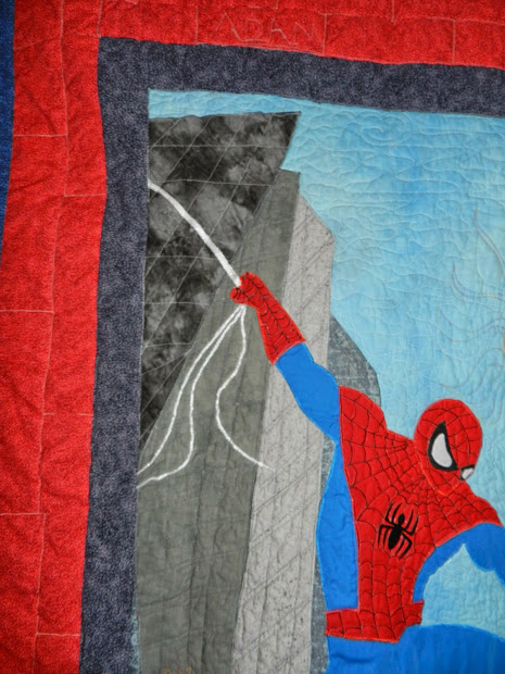 Dinah' Quilts And Embroidery Spider-man Quilt