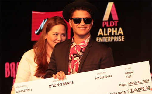 Bruno Mars Donates To Typhoon Yolanda Victims