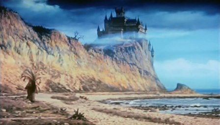 Castle from The Pit and the Pendulum (1961) and The Terror (1963), matte painting