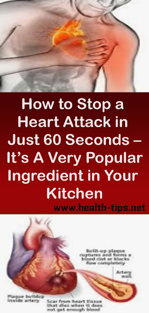 How to Stop a Heart Attack in Just 60 Seconds – It's A Very Popular Ingredient in Your Kitchen#NATURALREMEDIES