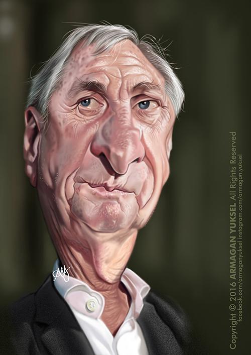 Johan Cruyff por Armagan Yuksel