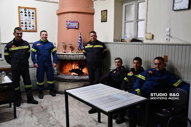 Οι Πυροσβέστες της Π.Υ. Ναυπλίου στο καθήκον ανήμερα των Χριστουγέννων