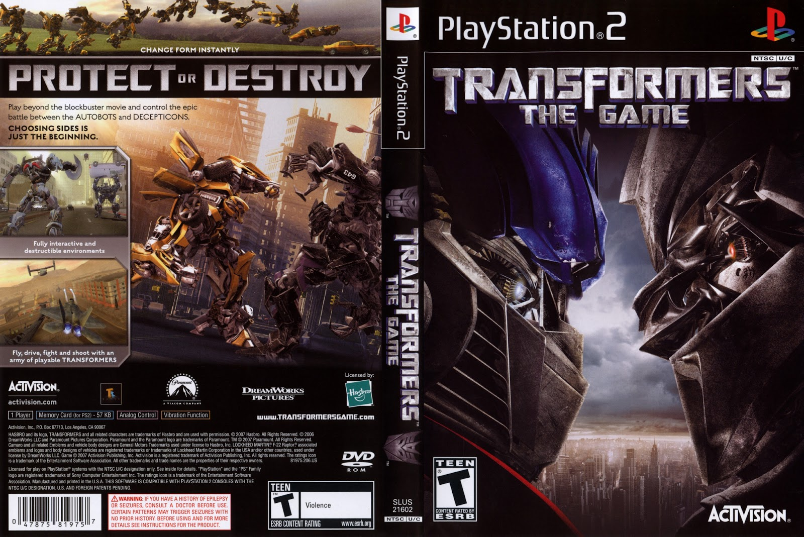 Download Game Ps2 Transformers ISO Psx Free