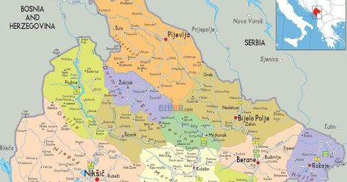 Mapa Crne Gore Peatix