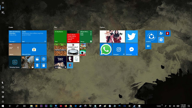 OS yang saya gunakan Windows 10 Pro (built 1809)