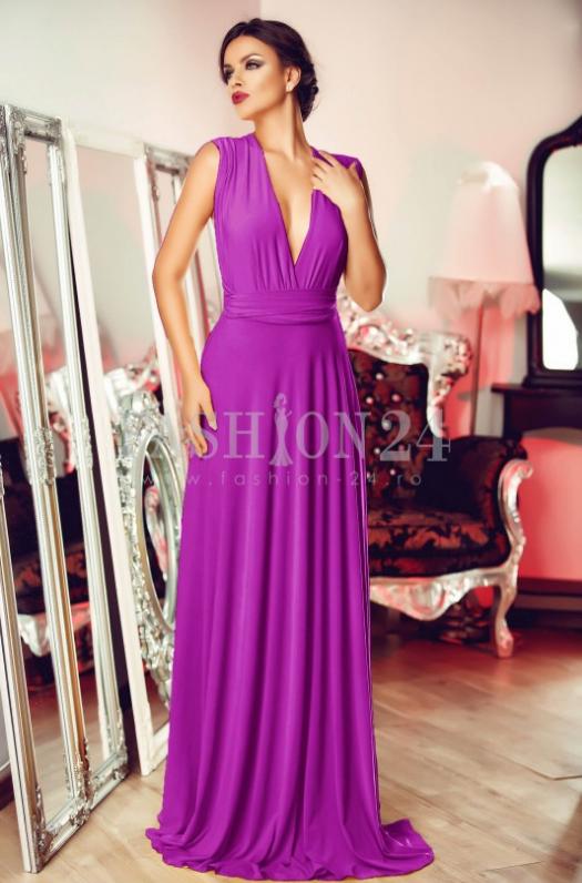 rochie de ocazie eleganta, intr-o culoare superba de mov, care poate fi purtata la orice petrecere sau eveniment