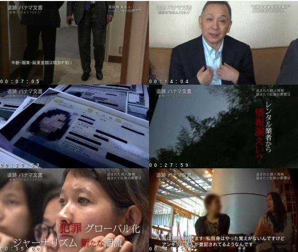 """[TV-Variety] 追跡 パナマ文書 衝撃の""""日本人700人"""" – 2016.11.27"""