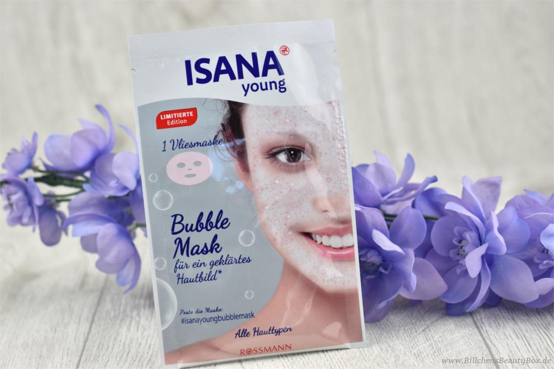 Neuheiten aus der Drogerie im Test - Isana Bubble Mask Vliesmaske