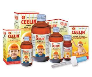 Siro Ceelin bổ sung vitamin C dành cho trẻ em