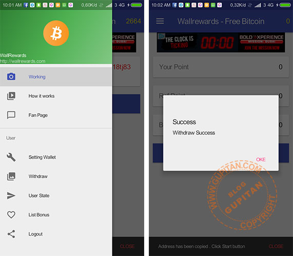 Wallreward Bitcoin App Android Gupitan