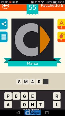 Iconica Italia Pop Logo Quiz soluzione pacchetto 6 livelli 55-100