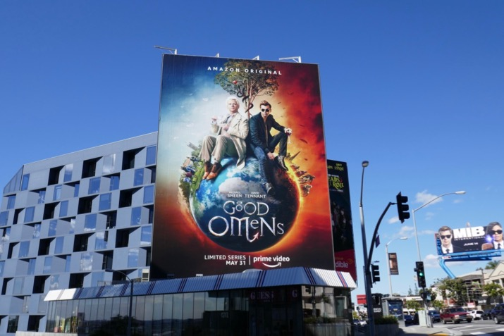 Giant Good Omens series billboard