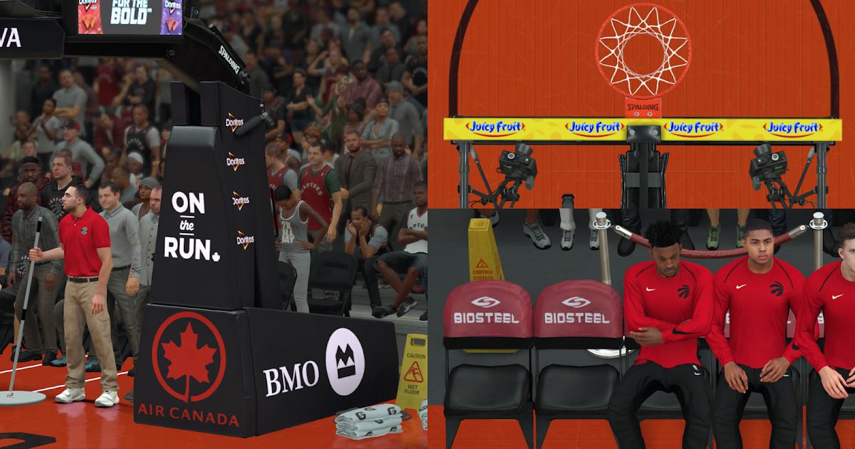 DNA Of Basketball | DNAOBB: NBA 2K18 Toronto Raptors Pack Arena + Court + Dornas by MJ23LB