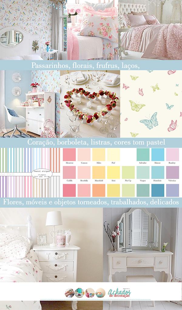 inspiração romântica porque usa flores, passarinhos e borboletas, mas a