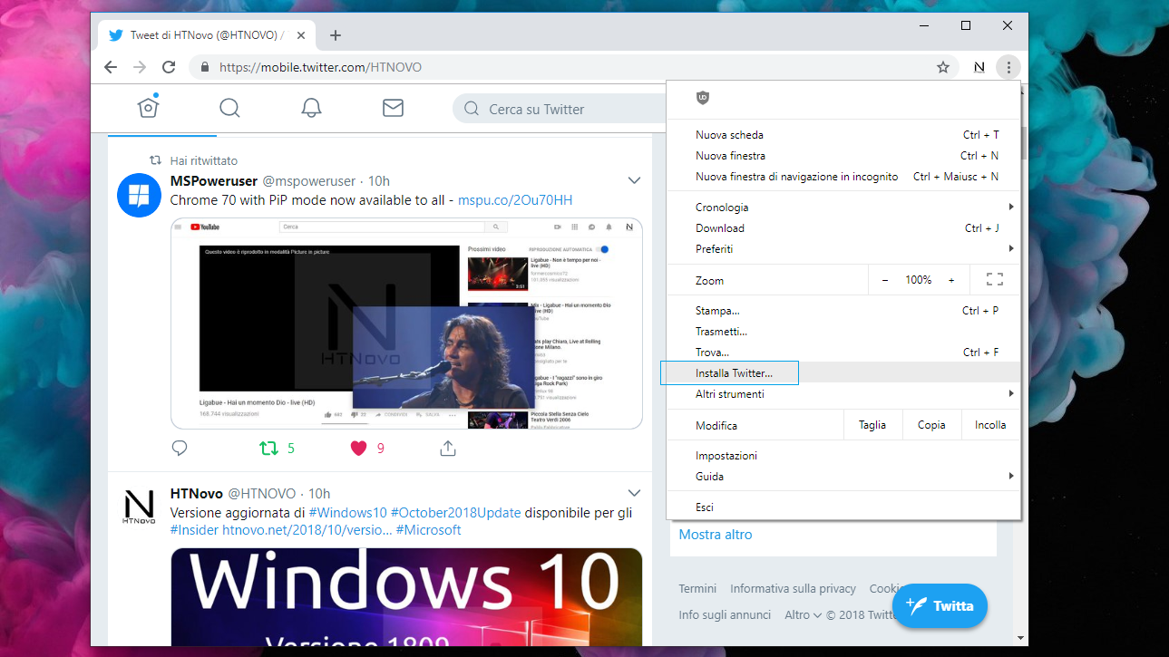 Chrome-70-PWA-Windows 10