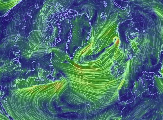 ouessant notre passion carte des vents en direct dans l 39 atlantique nord. Black Bedroom Furniture Sets. Home Design Ideas