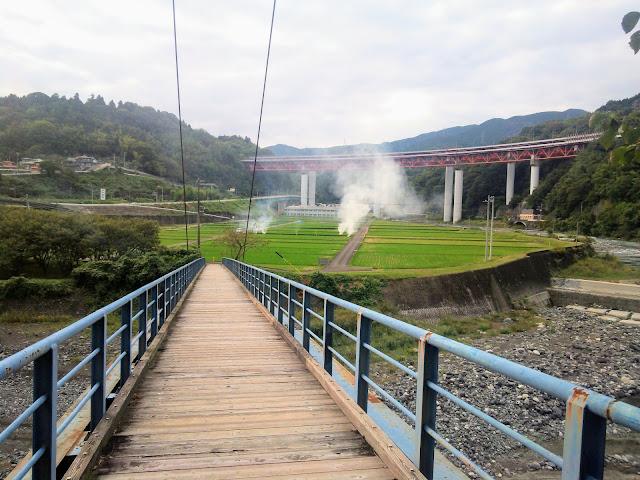 酒匂川 左岸 人道橋