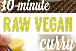 10 Minute Raw Vegan Curry over Zucchini Noodles