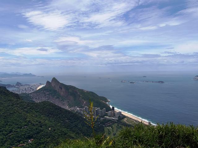 Vista da Pedra Bonita, Copacabana, Ipanema e São Conrado