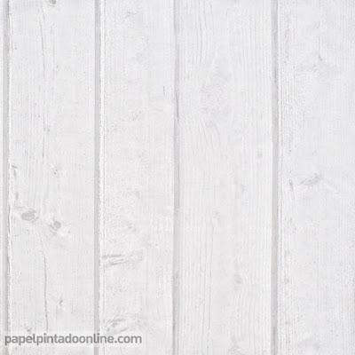 Papel Pintado Madera Blanco Roto 1021