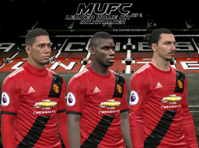 outlet store 1474b 33ba0 Manchester United Leaked Home Kit 2017-2018 - PES 2017 ...