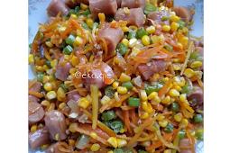 Resep dan cara membuat Sosis Sayur Manis