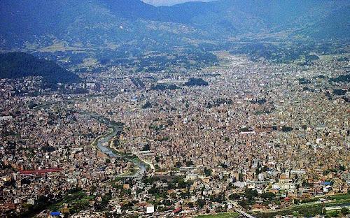 vista aérea de Catmandu - Nepal