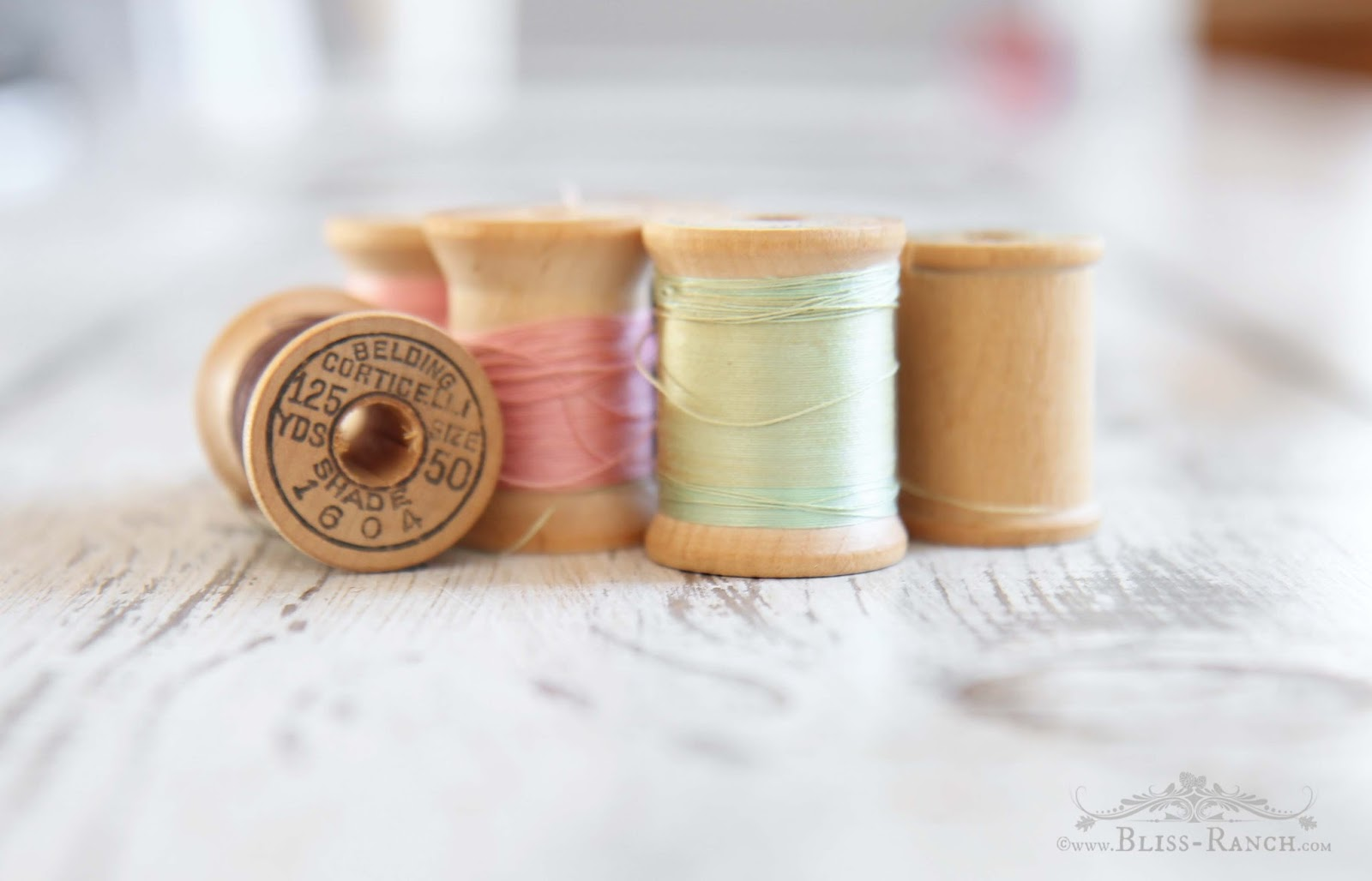 Vintage Thread spools Bliss-Ranch.com