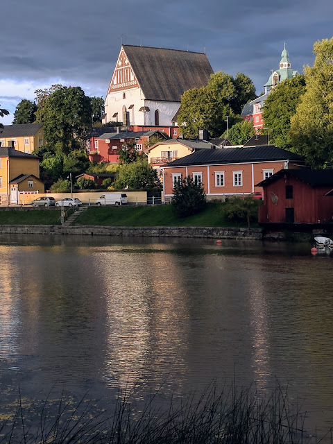 Finland road trip: Porvoo Cathedral viewed from across the river