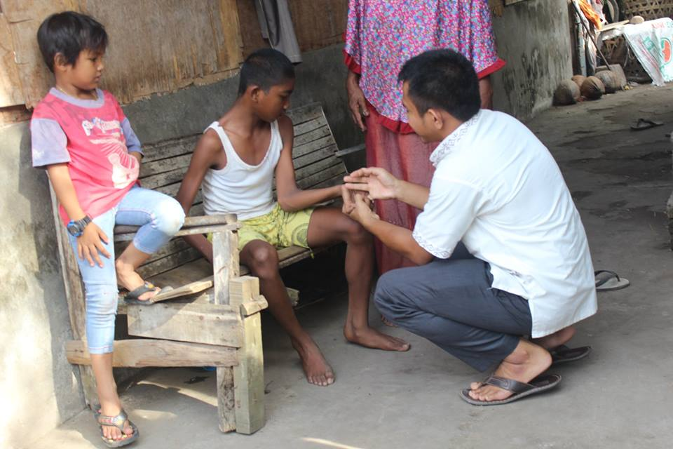 LPD Kunjungi Ramadhan Disabilitas Donw Sindrom, yang tinggal bersama neneknya setelah Orang tua meninggal